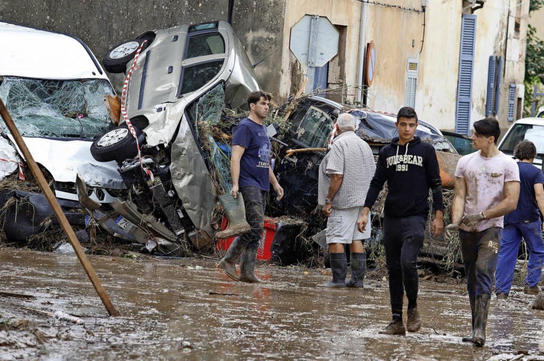 Die Ortschaft Sant Llorenç hat es besonders schwer getroffen.   | Foto: DPA