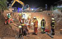 Feuerwehr probt für Bauunfall