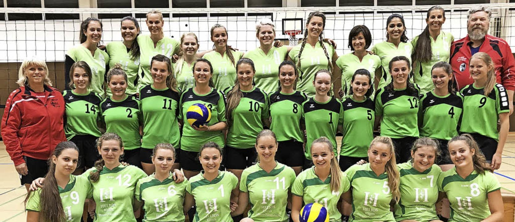 Der Zulauf zum Mädchen- und Frauen-Vol...uenmannschaften am Spielbetrieb teil.     Foto: Gerhard Mutter