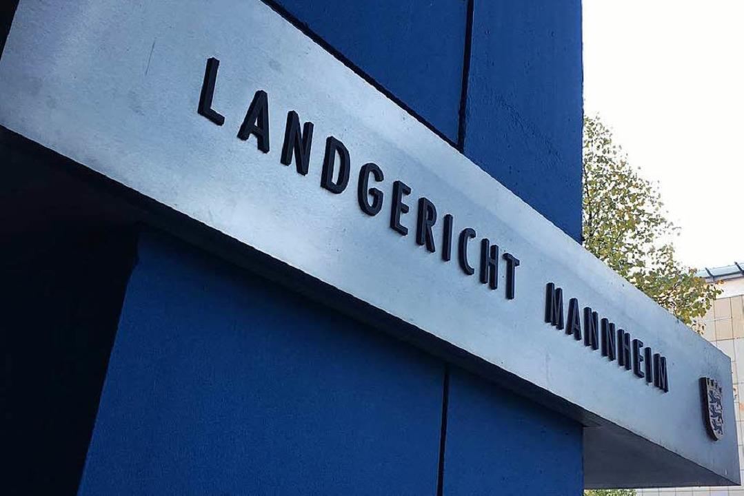 Seit dem 11. September wird am  Landge...annheim im Fall des Dekans verhandelt.  | Foto: Mark Alexander