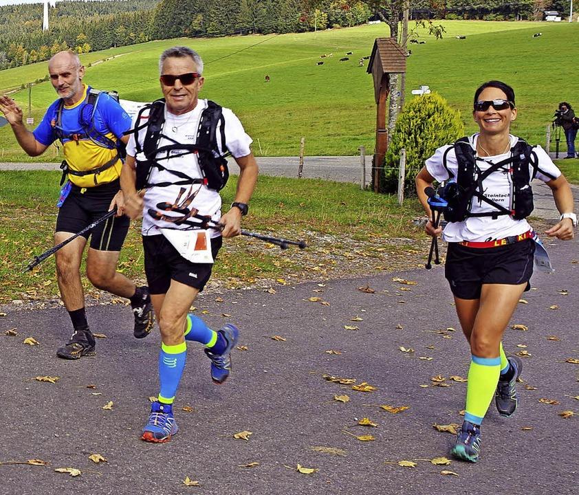 Der Trail-Run führte durch die schöne ...nehmer hatten sichtlich Freude daran.   | Foto: Hans-Jürgen Wehrle