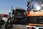 Fotos: Schwerer Lkw-Unfall auf der A5 bei der Anschlussstelle Bad Krozingen