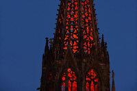 Livestream: Der Freiburger Münsterturm leuchtet