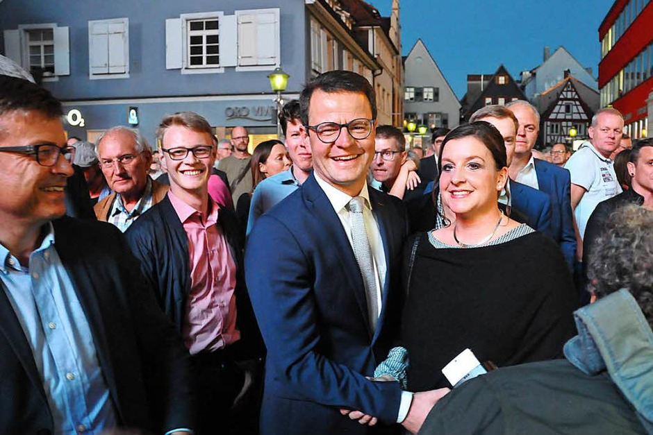 OB-Kandidat Marco Steffens holt im ersten Wahlgang die notwendige absolute Mehrheit. (Foto: Helmut Seller)