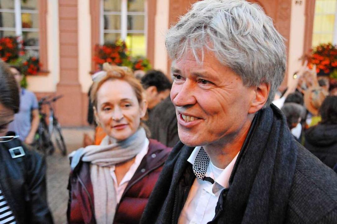 Enttäuschung dagegen bei Harald Rau (r...d seiner Lebensgefährtin Irene Ramesh.  | Foto: Helmut Seller