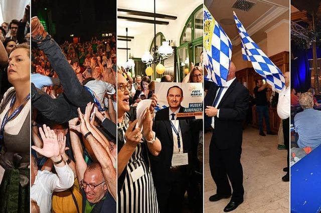 Wie die Parteien nach der Landtagswahl feierten – und trauerten