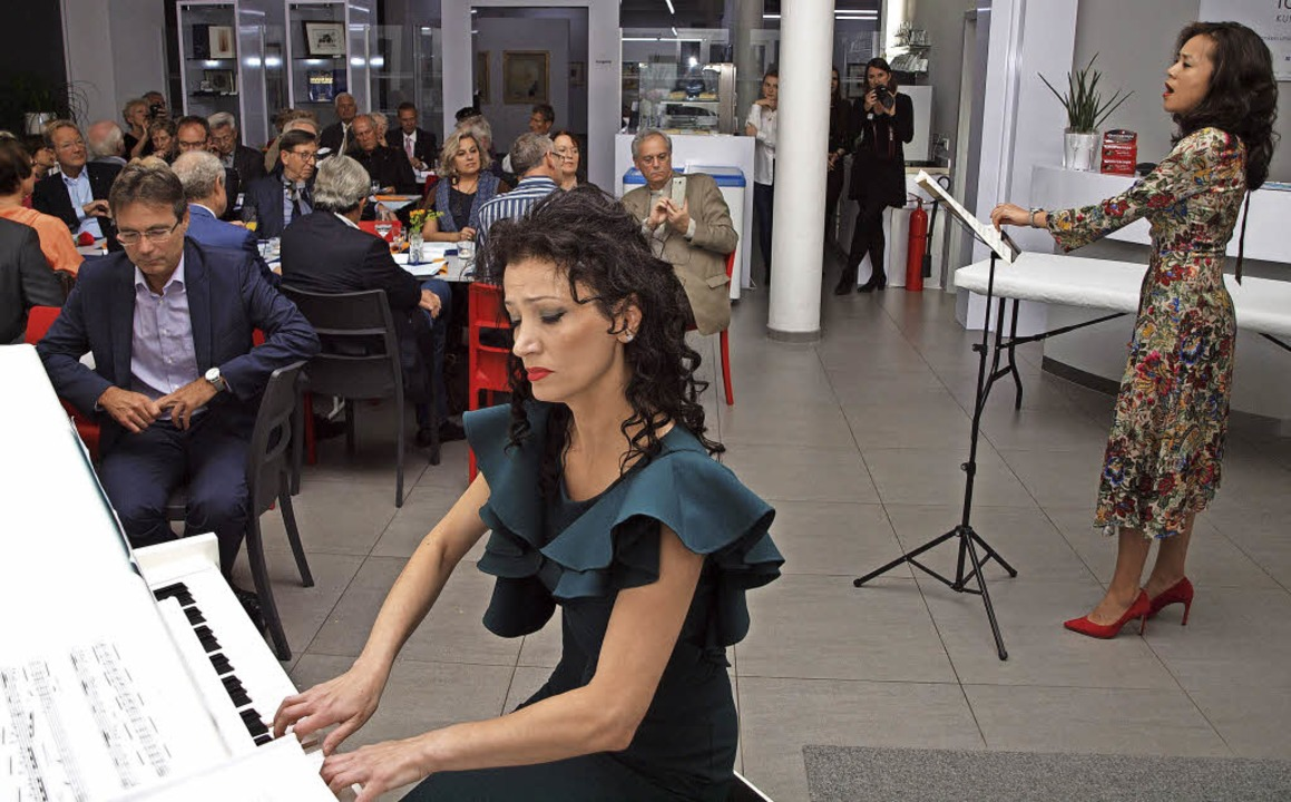 Pianistin Biljana Knab und Sopranistin Lea Qin Messmer   | Foto: M. Haberer