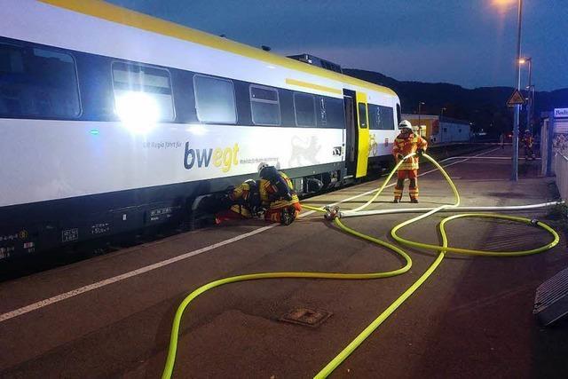 Nach Triebwagen-Brand: Bahnstrecke Basel-Waldshut frei