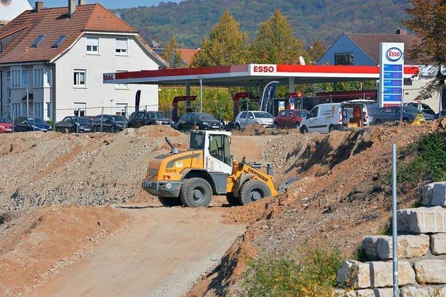Bauarbeiten an der Dreiländergalerie in Weil am Rhein gehen voran