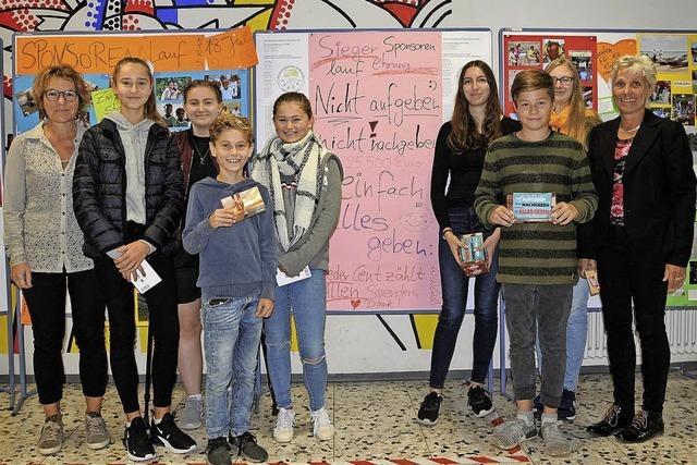 Schüler erliefen fast 26 000 Euro für Haiti