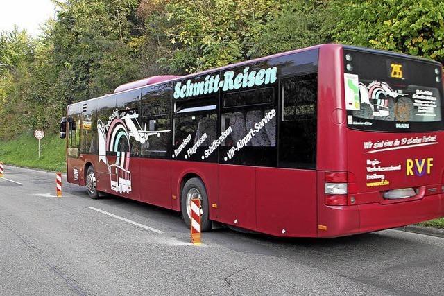 Straße sollte sicherer werden – und wurde zu eng für den Busverkehr