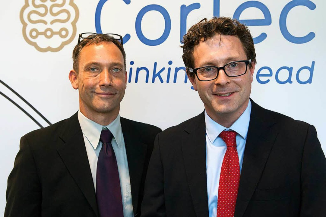 Die Cortec-Geschäftsführer Martin Schüttler und Jörn Rickert.  | Foto: Saltzer-Deckert