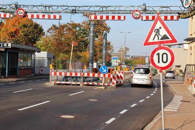 Der Grenzacher Grenzübergang wird Anfang November voll gesperrt