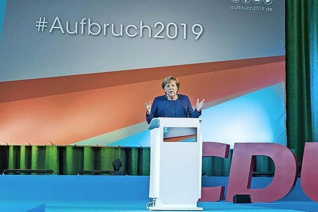 Merkel warnt vor Ende der CDU als Volkspartei