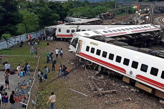 Zugunglück in Taiwan