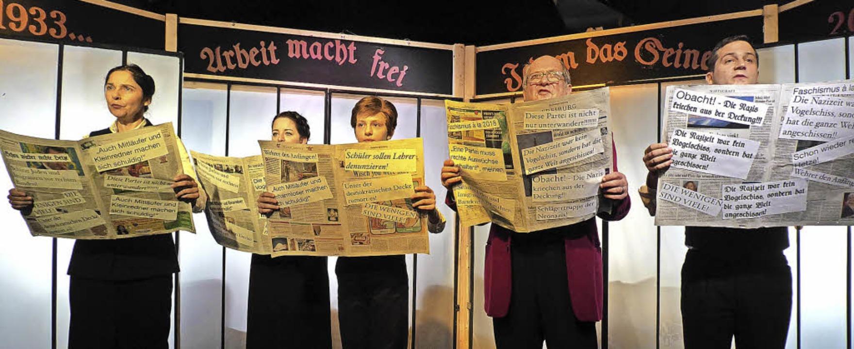 """""""Furcht und elend des Dritten Re...chs Kellertheater in Staufen zu sehen.    Foto: Hans Jürgen Kugler"""