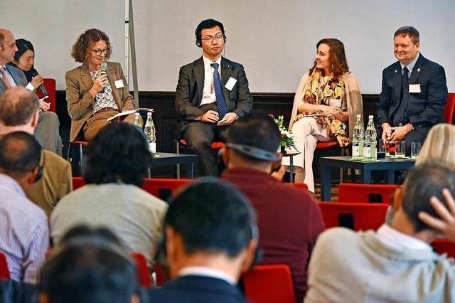 Freiburgs Partnerstädte tauschen sich über gemeinsame Ziele aus