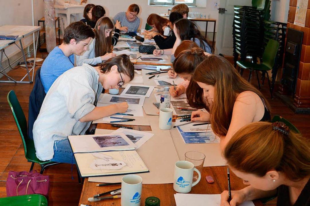Im Blauen Haus in Breisach wurden die Porträts gezeichnet.  | Foto: MSG