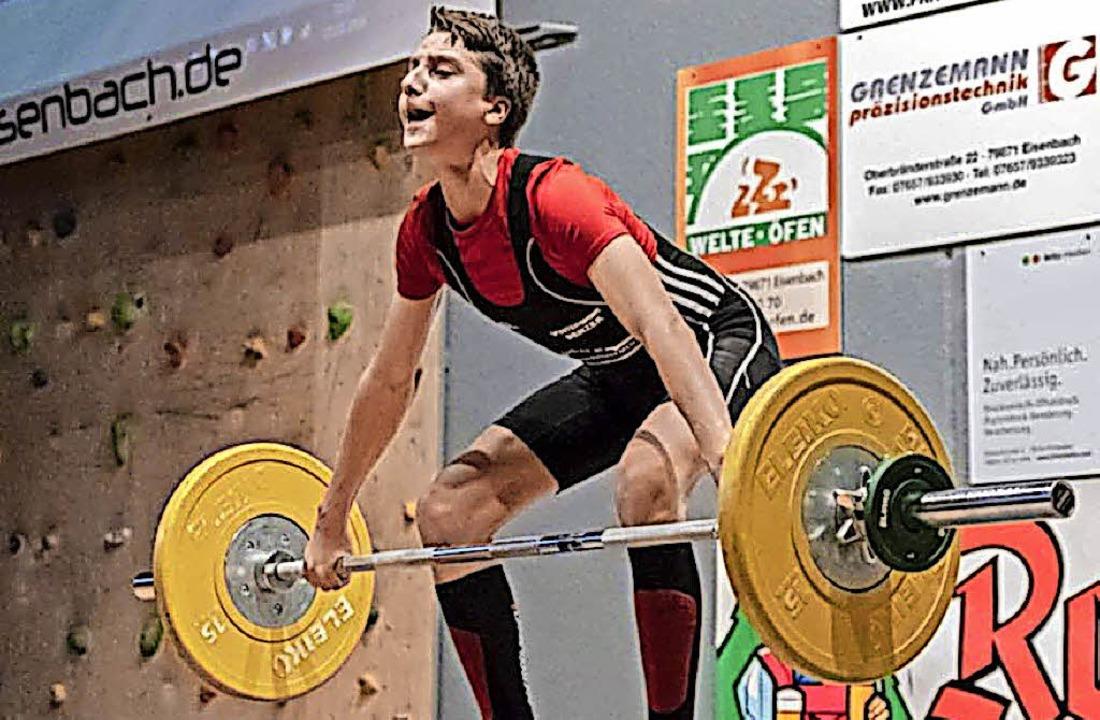 Leon Blümel bei einem Wettkampf   | Foto: Privat