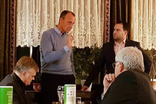 Friedrich Merz war bei einer CDU-Veranstaltung in Merzhausen – zufällig