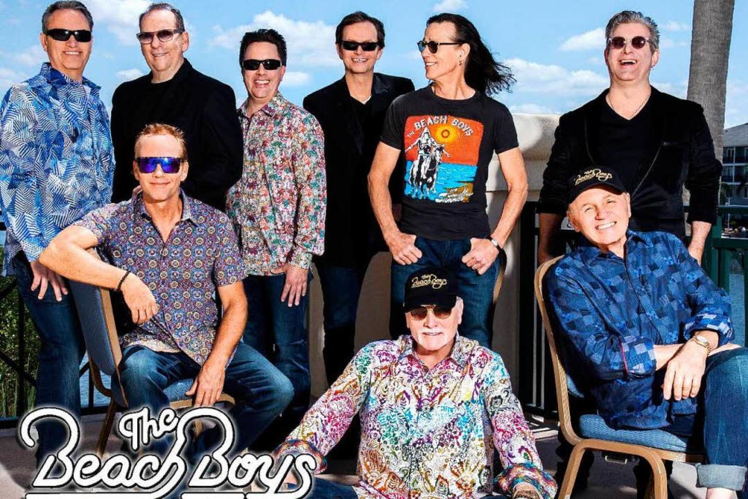 In den 60er-Jahren waren das noch nicht so viele: Die Beach Boys 2018  | Foto: Veranstalter
