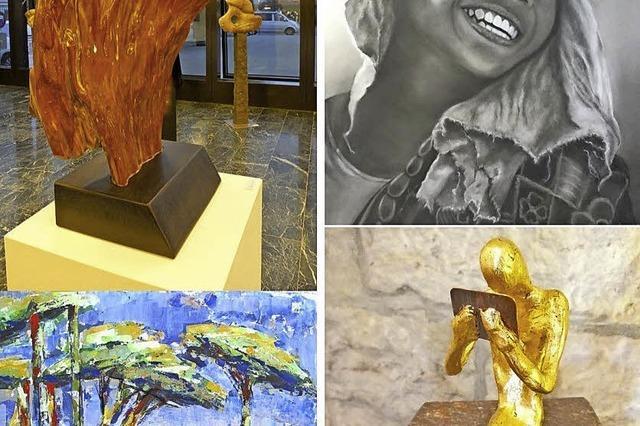 Porträts, Gemälde, Steinskulpturen
