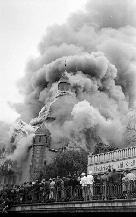 Brand der  Synagoge  Siegen  | Foto: Nimbus