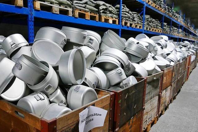 Der Basler Zivilschutz hat seine alten Küchengeräte verkauft