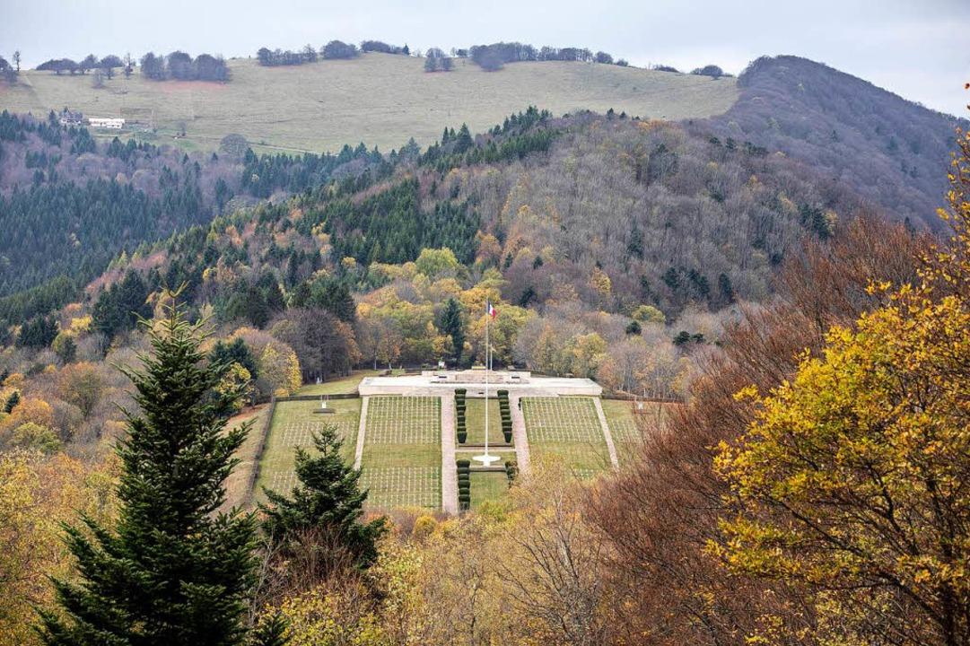 Der Militärfriedhof am Hartmannswillerkopf.  | Foto: Jean-Francois Badias