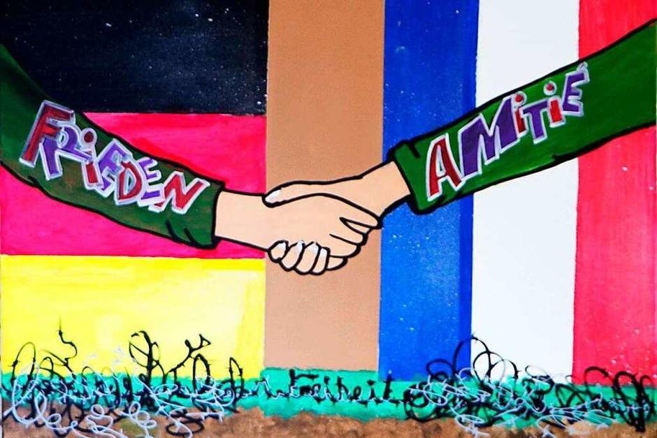 Ein Händedruck für Frieden und Freundschaft (Foto: Faust-Gymnasium)
