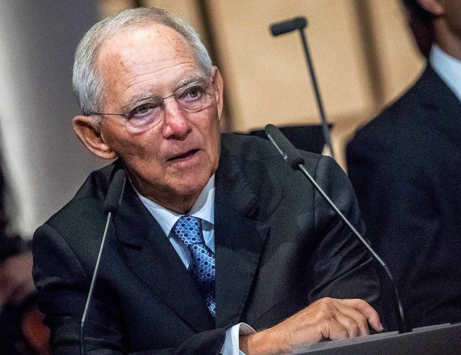 """Sieht die Bundesländer am """"golde...des Bundes geführt: Wolfgang Schäuble     Foto: dpa"""