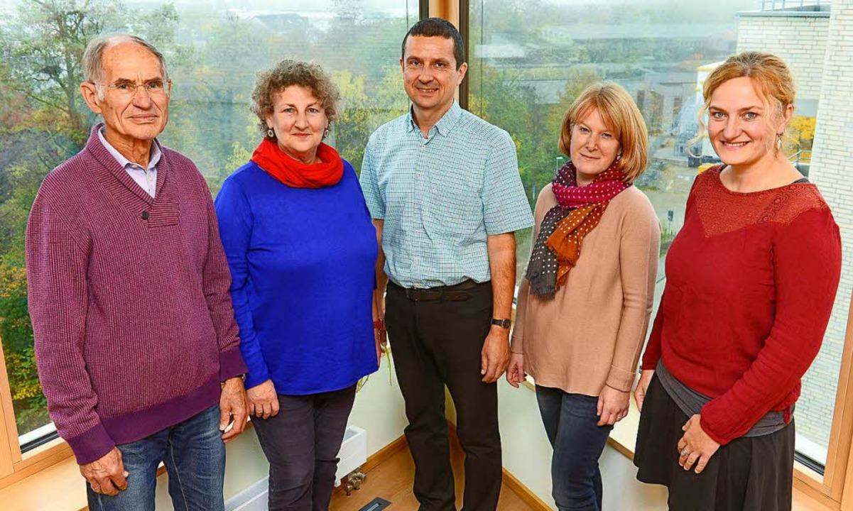 Hans Klink, Martina Fleig, Jürgen Borh...Klaus und Christina Heine (von links).    Foto: Ingo Schneider