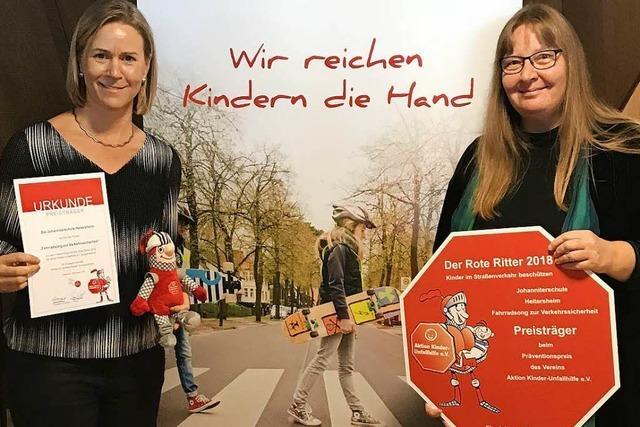 Grundschüler aus Heitersheim für Ohrwurmsong zur Sicherheit beim Radfahren ausgezeichnet