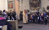 Licht im Kirchengewölbe