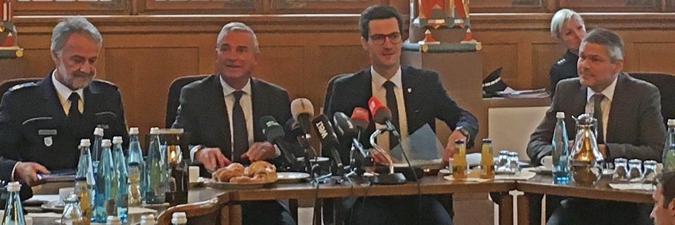 Live: Pressekonferenz von Landesinnenminister Strobl und OB Martin Horn