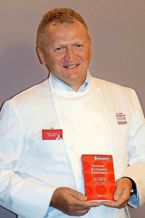 """Peter Knogl wurde in der Kategorie &#8... Koch im Ausland"""" ausgezeichnet.    Foto: dpa"""