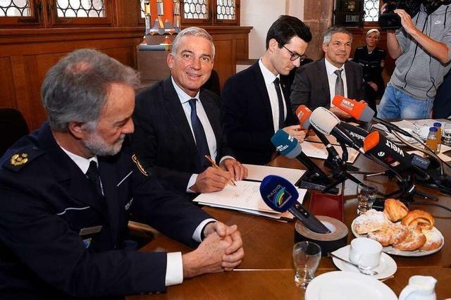 Ticker zum Nachlesen: Innenminister Strobl und OB Horn zur Sicherheitspartnerschaft