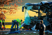 Mindestens 40 Verletzte bei Busunfall in Franken