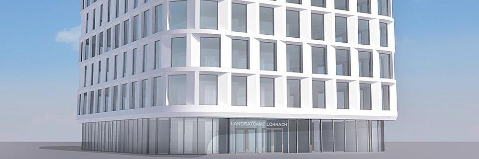Neubau des Lörracher Landratsamts wird neun Millionen Euro teurer