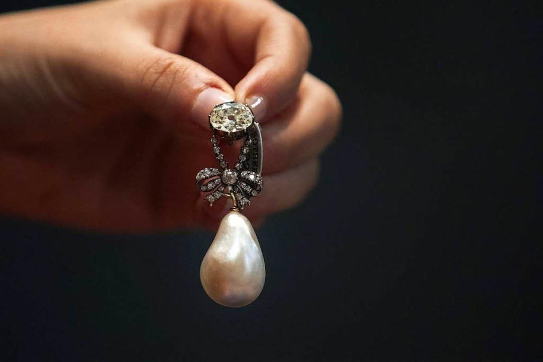 Diamantanhänger von Marie-Antoinette    Foto: AFP
