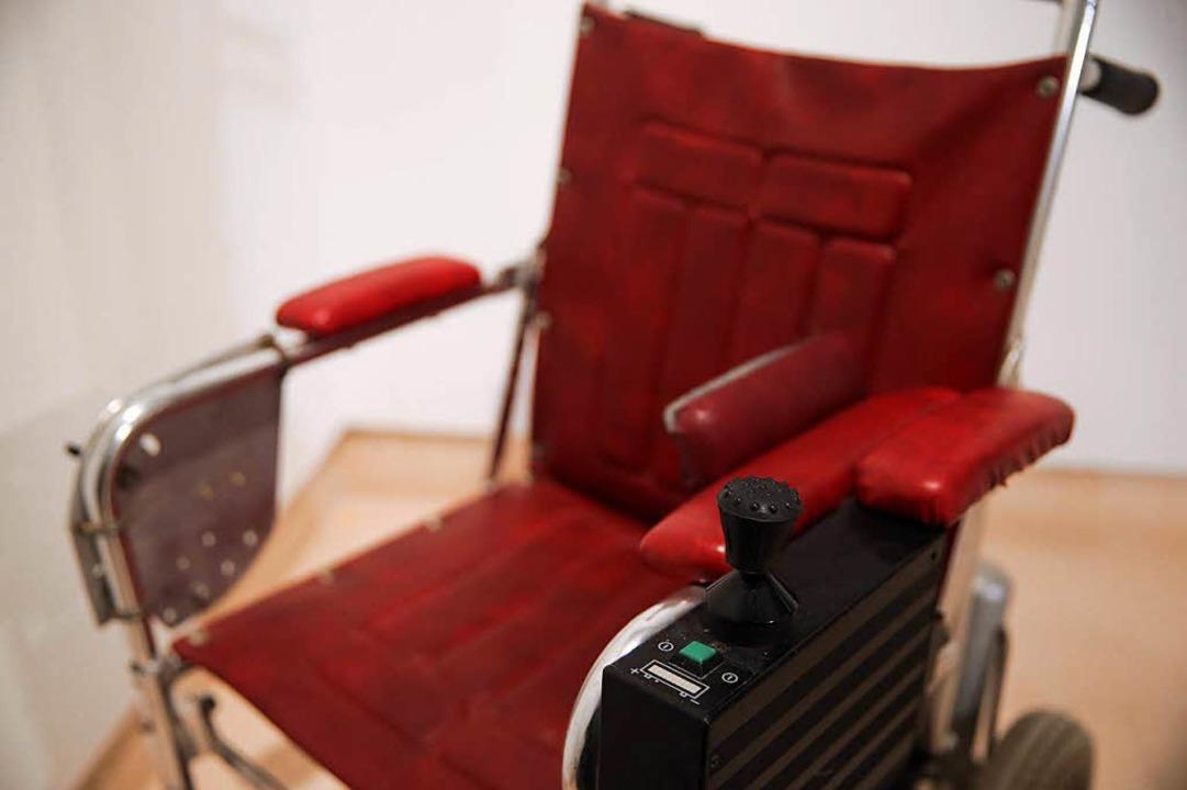 Rollstuhl  des Physik-Genies Stephen Hawking    Foto: AFP