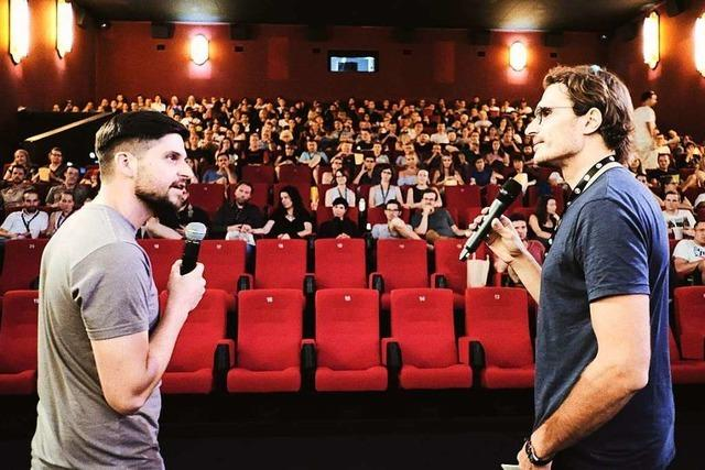 Start-up-Gründer im Cinemaxx mit Fudder