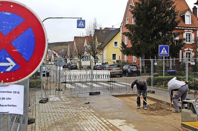 Rohrbruch sorgt für Umleitung im Ortskern