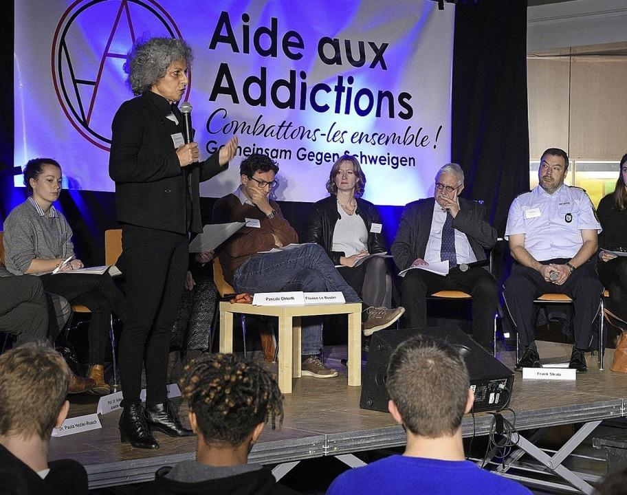 Expertendiskussion zum Thema Cannabis ...ung im Deutsch-Französischen Gymnasium  | Foto: Thomas Kunz