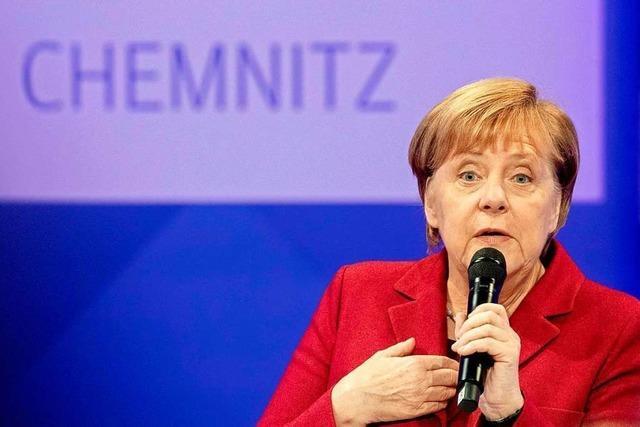 Der Besuch der Bundeskanzlerin in Chemnitz hat polarisiert