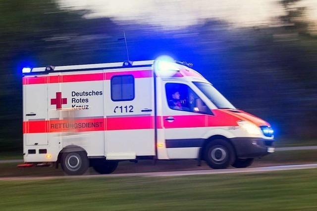 Auto prallt in Appenweier gegen Baum und brennt aus – Fahrer schwer verletzt