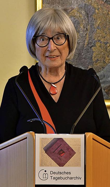 Selbst ein Stück DTA-Geschichte und au...lebendige Vorleserin: Evamaria Strunk.    Foto: Benedikt Sommer