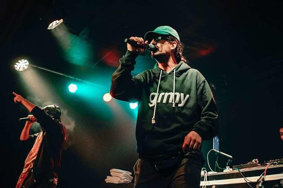 Rapper Haze lieferte ein stabiles Konzert im Waldsee in Freiburg. (Foto: Fabio Smitka)