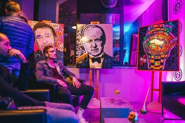 Pop-Art-Ausstellung im Waschsalon
