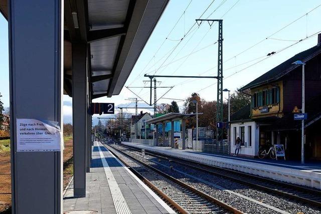Schon vor der Inbetriebnahme gibt's Kritik am neuen Gleis im Bahnhof Littenweiler